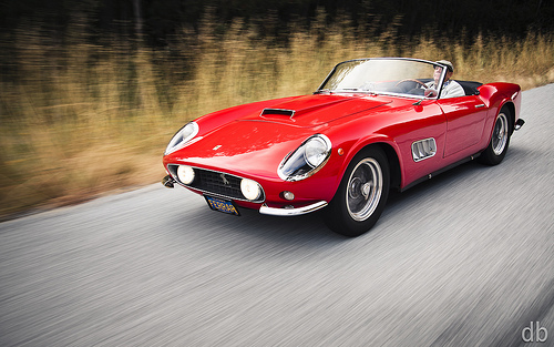 Little red Italian sports car